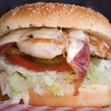 Boomer's Bacon Swiss Chicken Burger