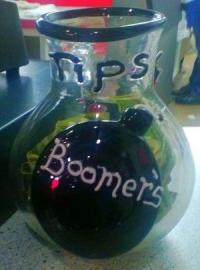 Replacement Boomers Drive-In tip jar from Glass Mountain Studios