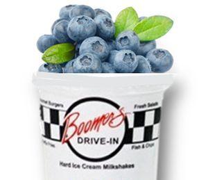 boomers blueberry milkshake